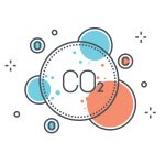 Color line, pollution concept illustration, CO2 icon Alternative Fuel