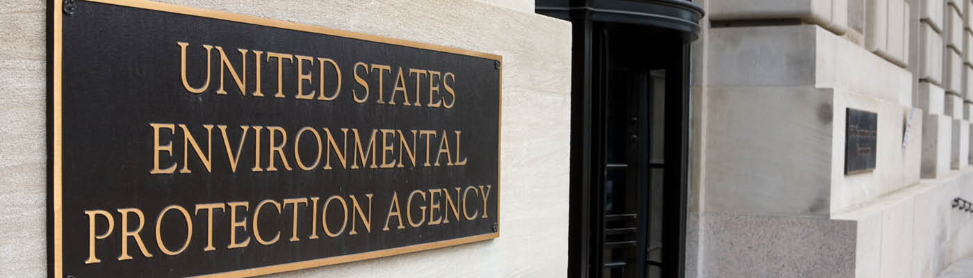 Environmental Protection Agency Sign - Page Header for EPA Certifications
