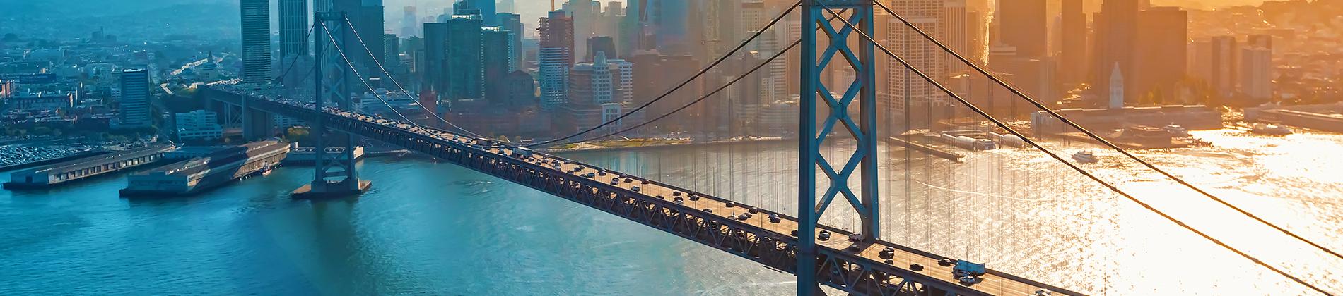 San Francisco Bridge with Heavy Traffic