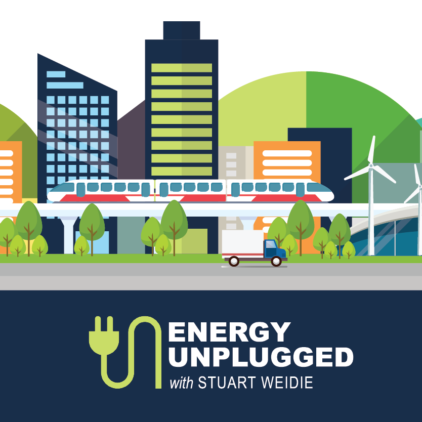 Energy Unplugged with Stuart Weidie logo with background